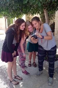 Mit den jüdischen Austauschschülerinnen