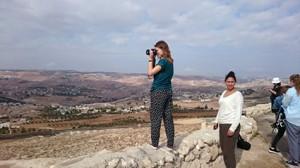 Blick vom Herodium, einer ehemaligen Festungs- und Palastanlage auf das Westjordanland
