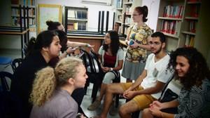 Begegnung mit israelischen Schülerinnen und Schülern im Shalom Hartman Institute in Jerusalem